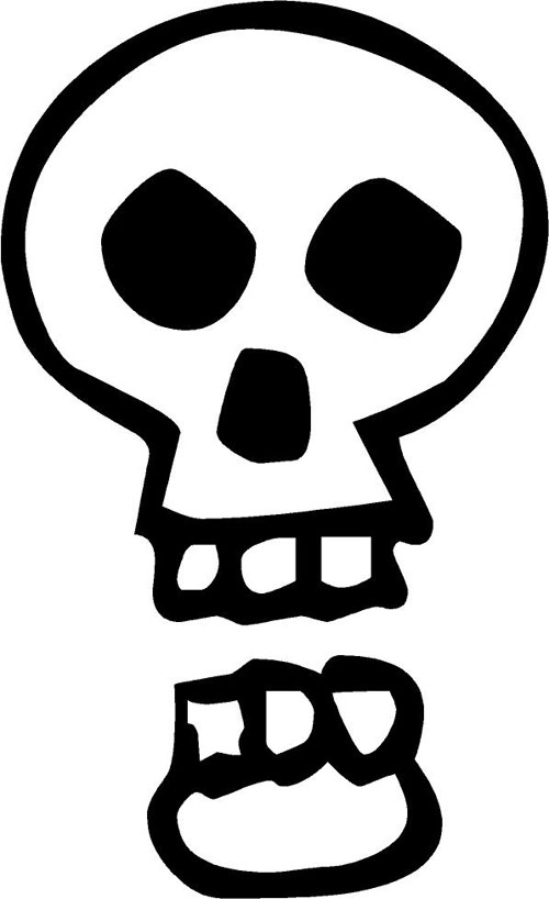 Open Mouth Skull | Halloween Decals - Trading Phrases