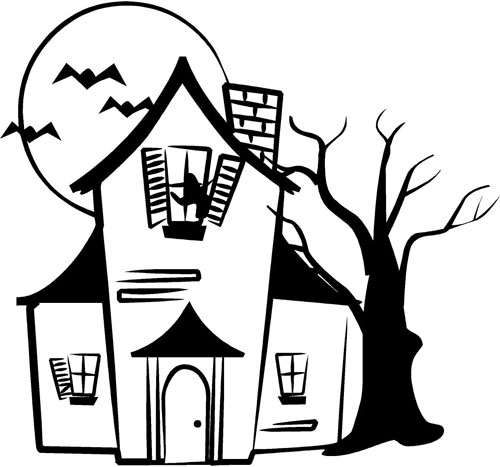 Haunted House Halloween Decals Trading Phrases