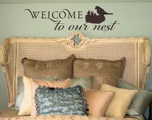 Welcome to Our Nest Wall Decal