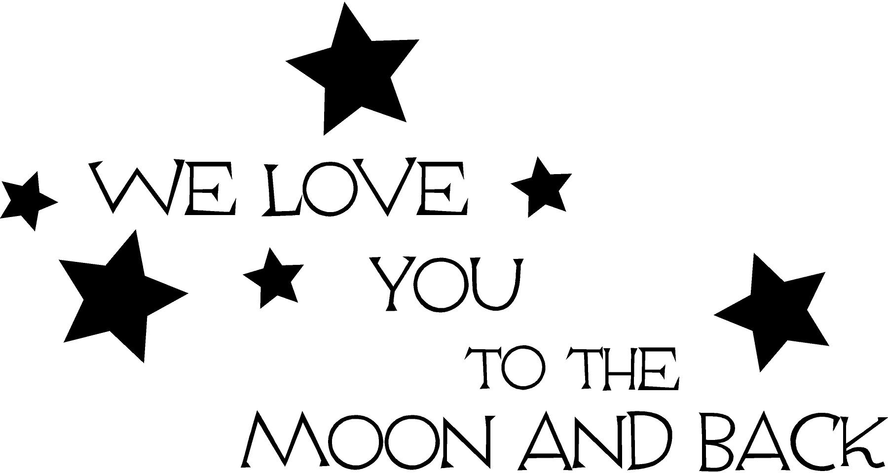 Moon And Back Decal Trading Phrases