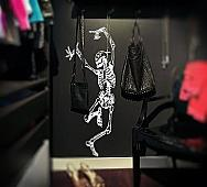 Dancing Skeleton Large Wall Decal