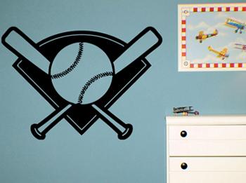Baseball Diamond Wall Decals Trading Phrases