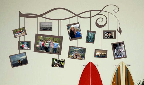 Photo Branch Larger Frames Wall Decal