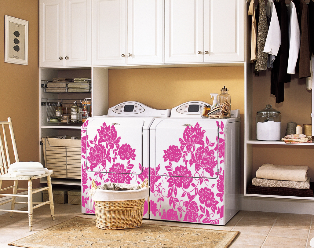 Flocked Flower Block Decal Trading Phrases Cover Up Washer And Dryer Hook Ups With A Curtain I Must