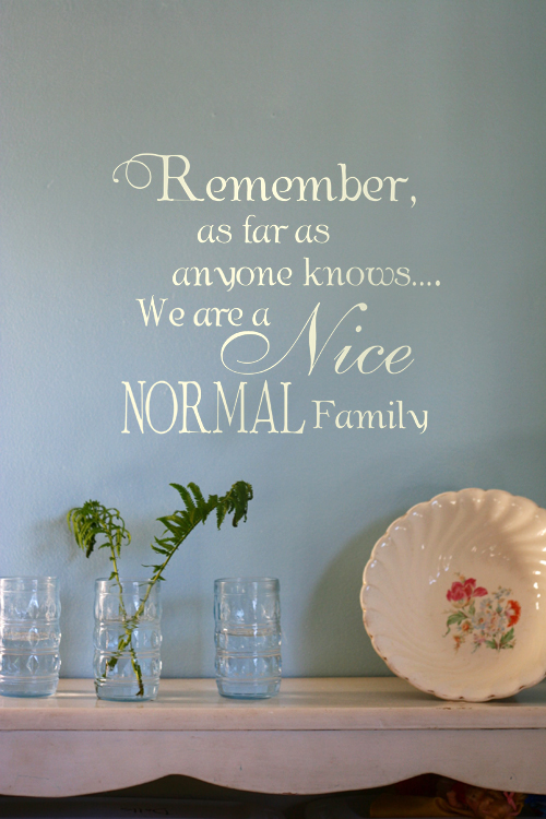 Nice Normal Family Humorous Decal Trading Phrases