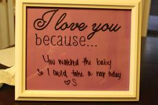 I Love You Because Wall Decal