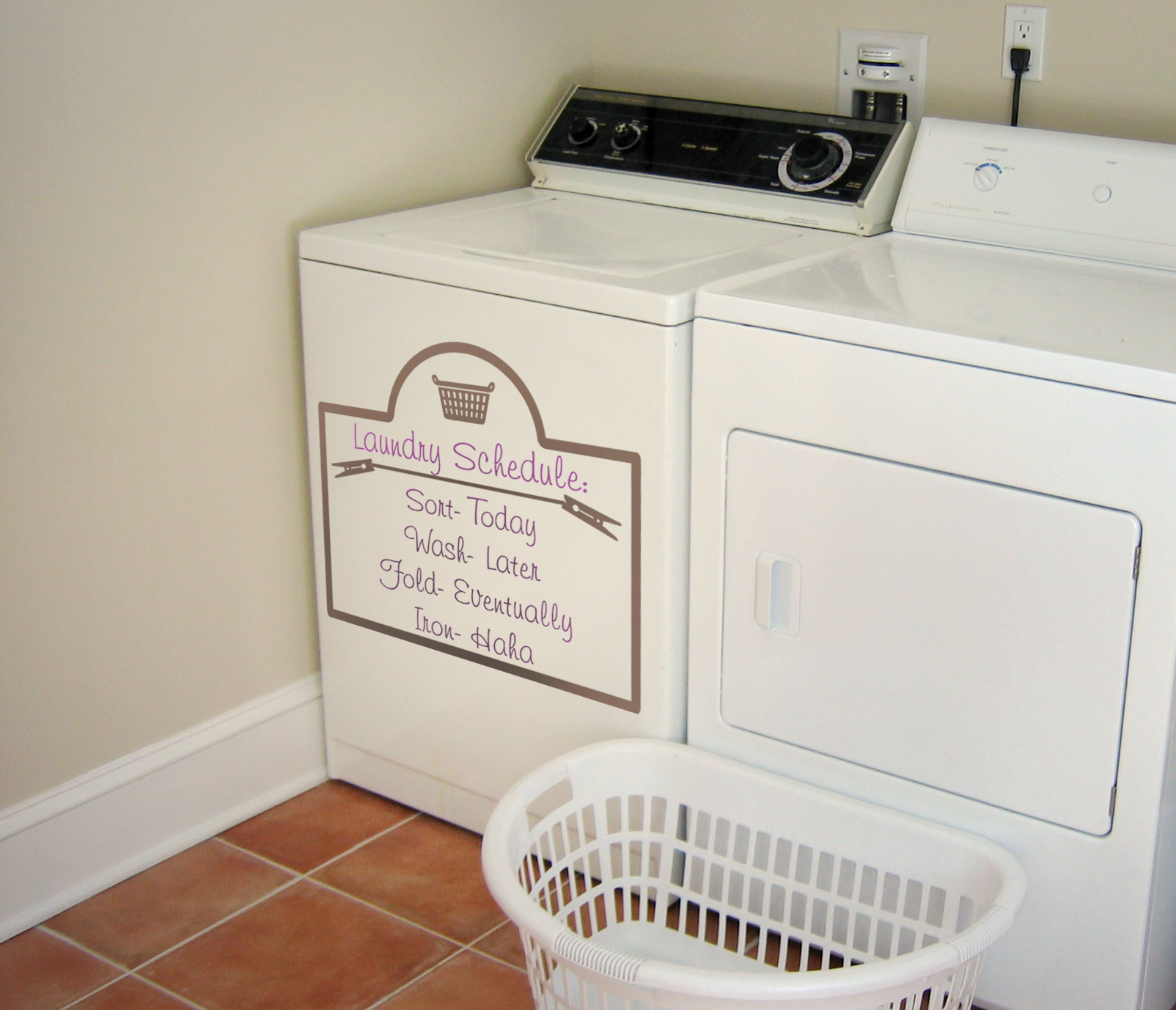 Laundry Schedule Decal Trading Phrases
