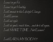 Earn My Body Wall Decals