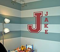 Varsity Letters Monogram Wall Decal
