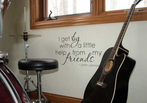I Get By With A Little Help Wall Decal