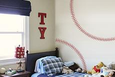 Baseball Stitches Wall Decal