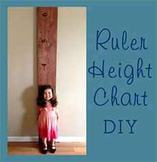 Ruler Height Chart Decal