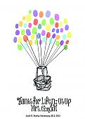 Teacher Hot Air Balloon Thumbprint Art