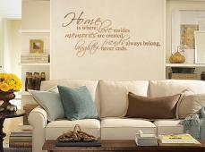 Home is Where Love Resides Wall Decal