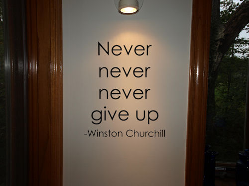Never Give Up Wall Decals