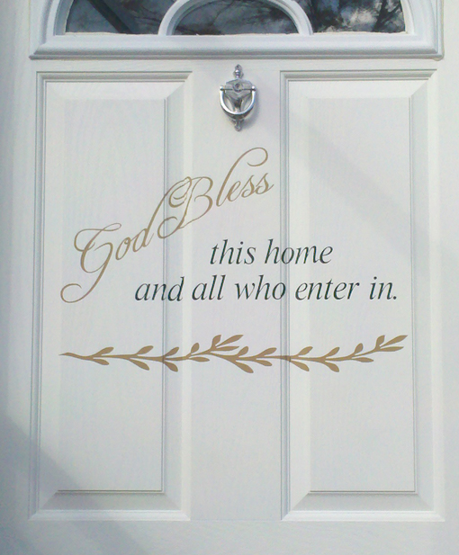 God Bless This Home Wall Decals Trading Phrases