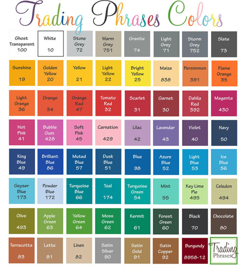 Trading Phrases Colors