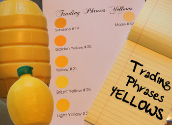 Color Closeup- Our Yellows