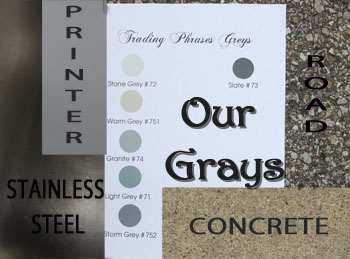 Color Closeup- Our Grays