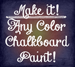 DIY: Any Color Chalkboard Paint!