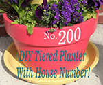 EASY Tiered Planter with your House Number!