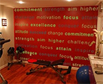 Video: Exercise Rooms & Motivation Quotes