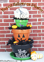Tiered Halloween Planter How-To