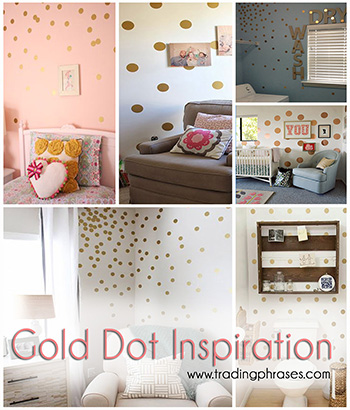 "New Obsession- Gold ""Confetti"" Dots"