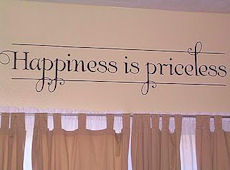Blogger Review: Happiness is Priceless Decal
