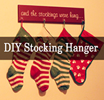 Adorable D-I-Y Stocking/Stockings Hanger