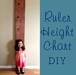 Easy DIY Pottery Barn Style Ruler Height Chart