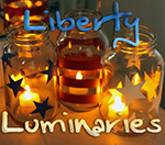 DIY Liberty Luminaries