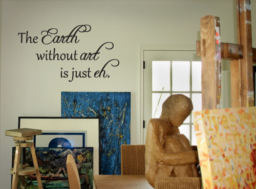 The Earth Without Art Wall Decal