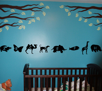Animal Alphabet Wall Decal