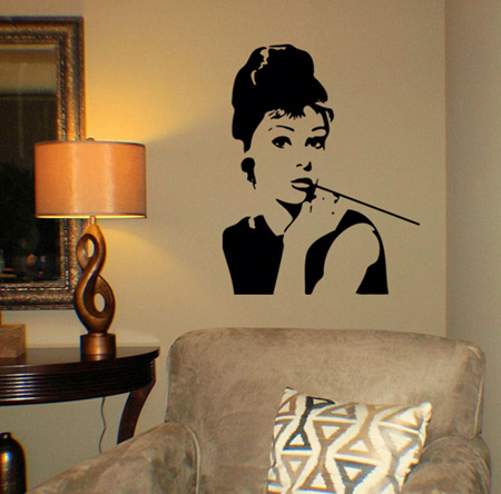 Audrey Hepburn Image Wall Decal