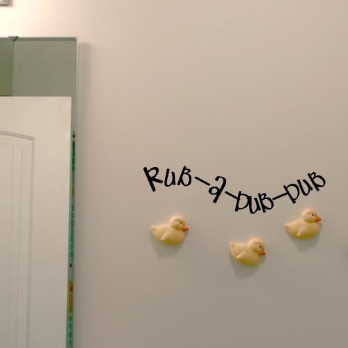 Rub a Dub Wall Decal