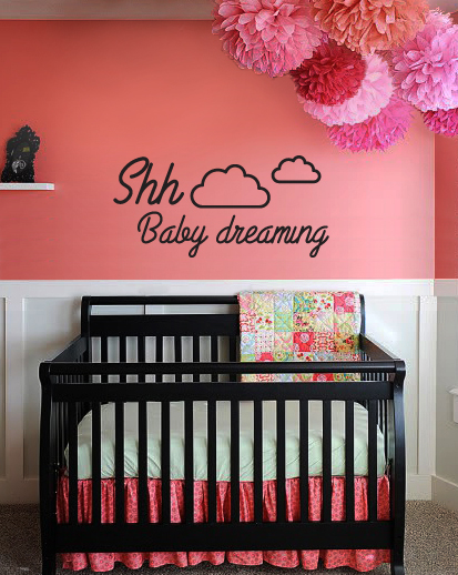 Shh Baby Dreaming Wall Decal