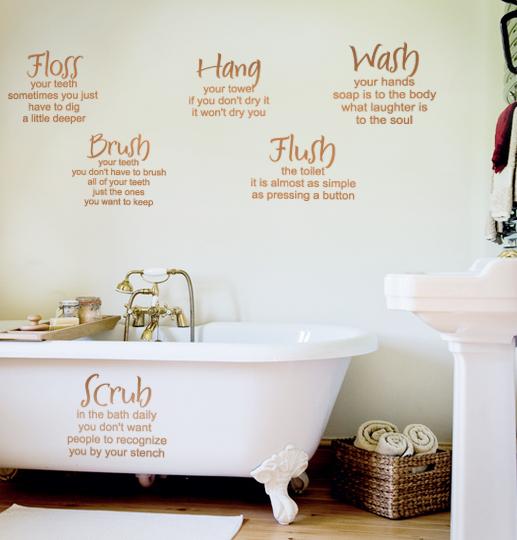 Mom's Bathroom Rules Wall Decal