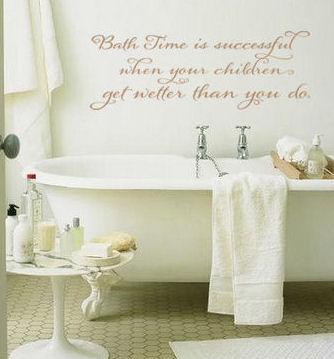 Bath Time Success Wall Decal