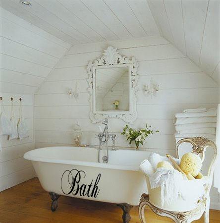 Chopin Script Bath Wall Decal