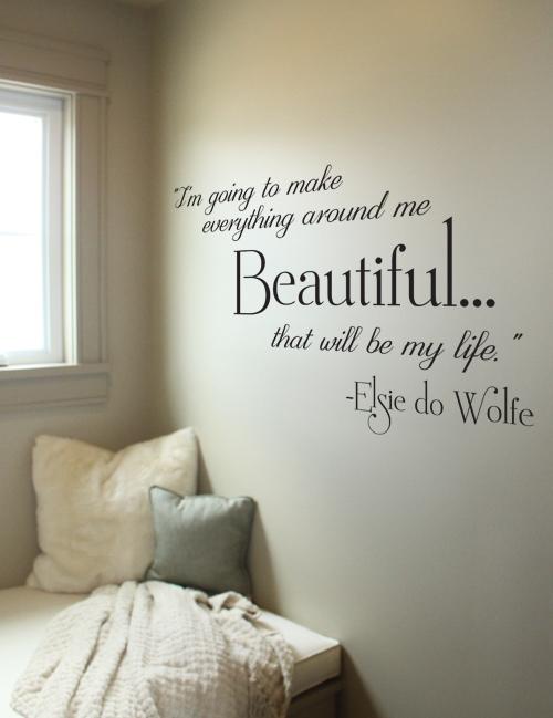 Beautiful My Life Wall Decal