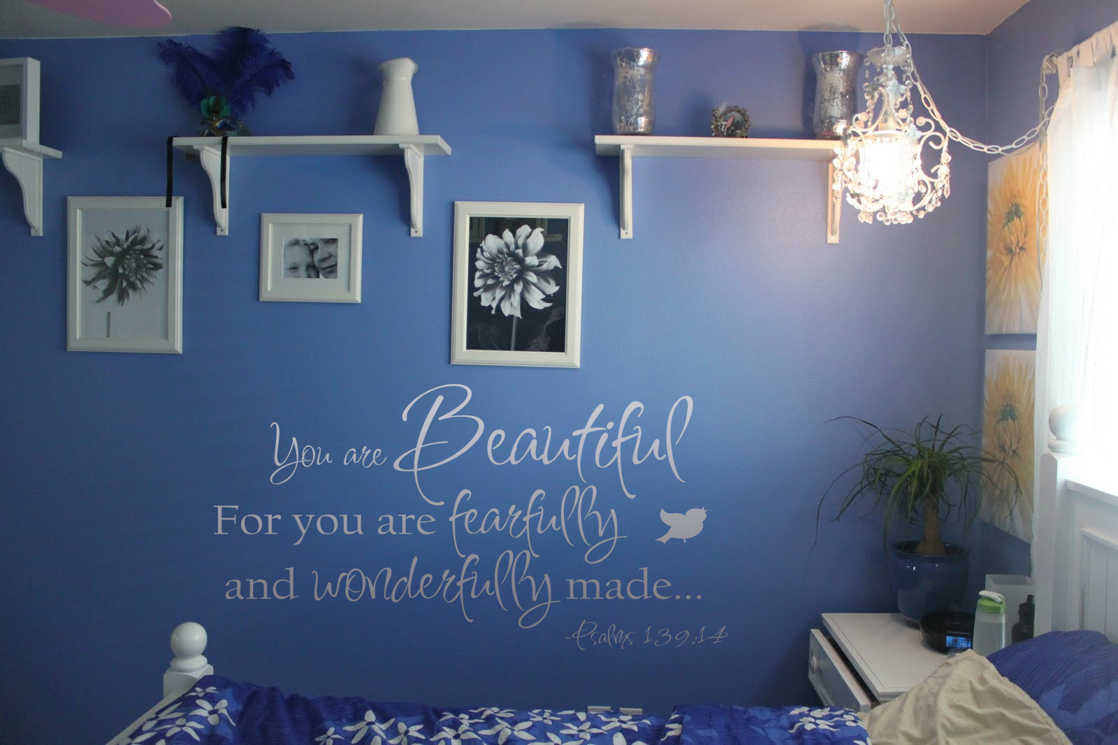 You Are Beautiful Fearfully Wonderfully Made Wall Decal