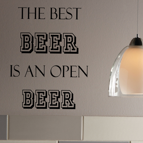 Open Beer Wall Decal