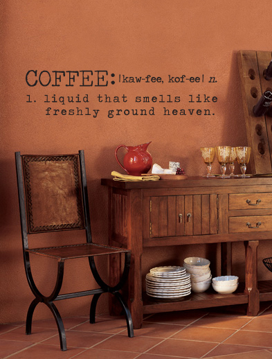 Coffee Definition Wall Decal