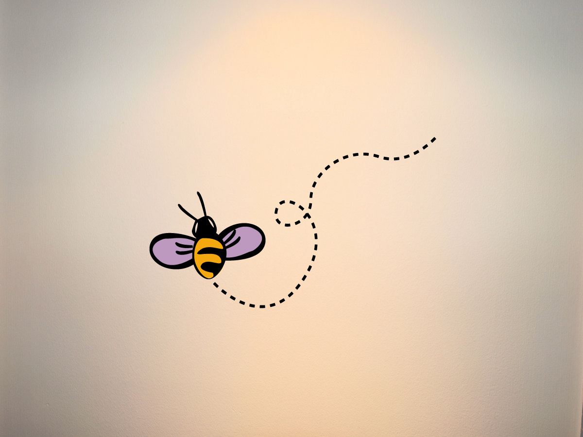 Bee Printed Decal