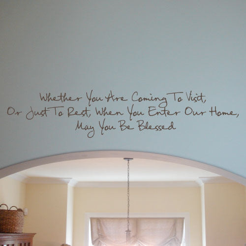 May You Be Blessed Wall Decal