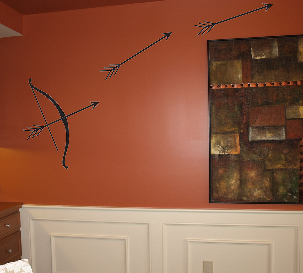 Bow and Arrow Wall Decal