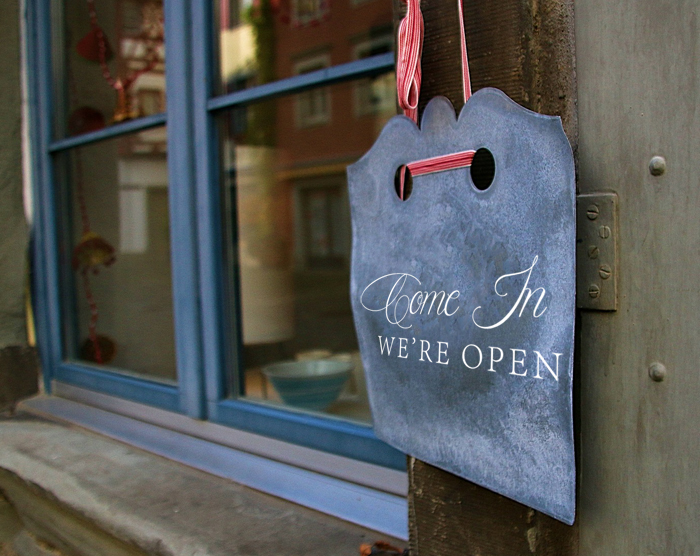 We're Open Wall Decal