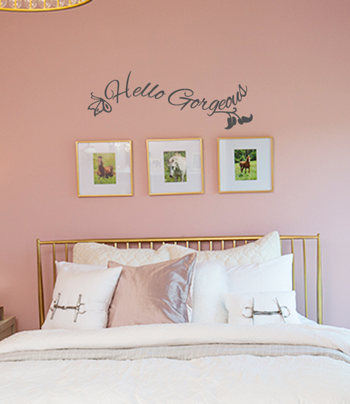 Hello Gorgeous Butterfly Wall Decal