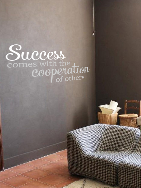 Success Cooperation Wall Decal